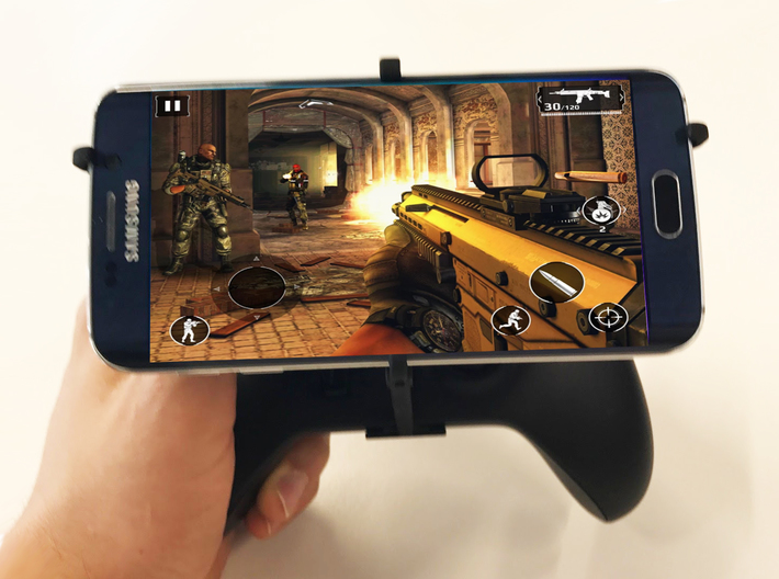 Xbox One S controller & Oppo A71 - Over the top 3d printed Xbox One S UtorCase - Over the top - In hand