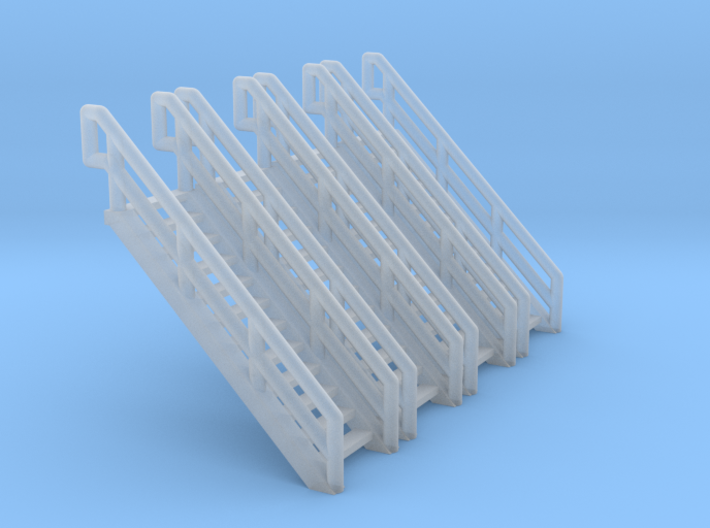 Z Scale Industrial Stairs 12 (4pc) 3d printed