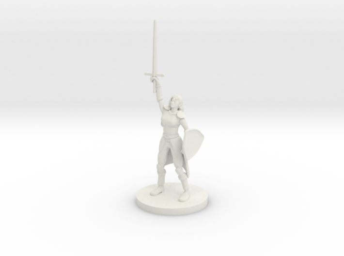 Female Elf Paladin Cleric with Sunblade 3d printed