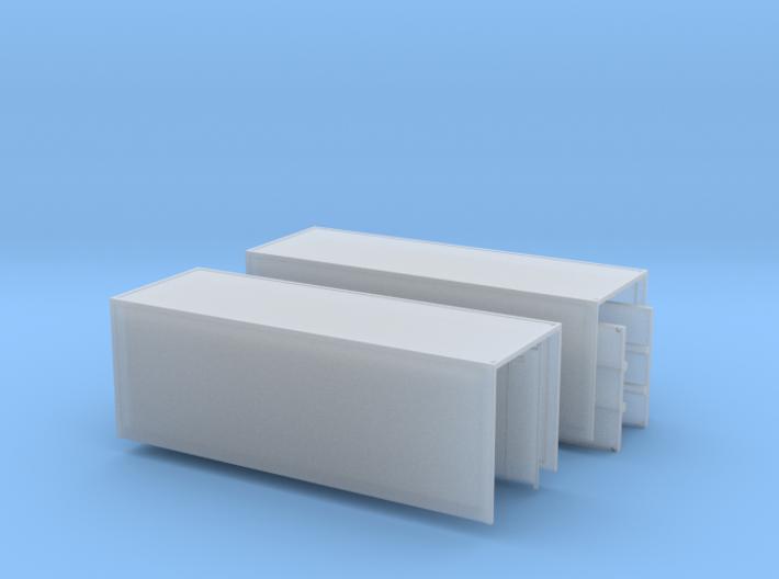 2 x Koffer mit offenen Türen Spur N 1: 160 3d printed