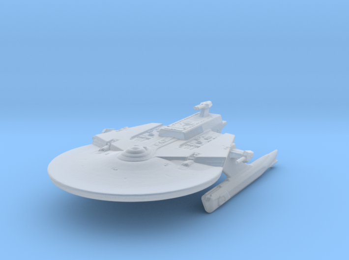Federation Soyuz Class Medium Cruiser 1:7000 3d printed