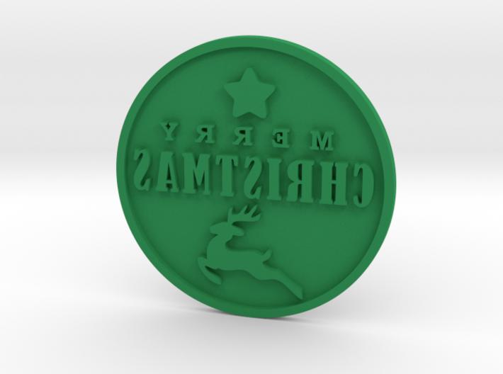 Christmas stamp 3d printed
