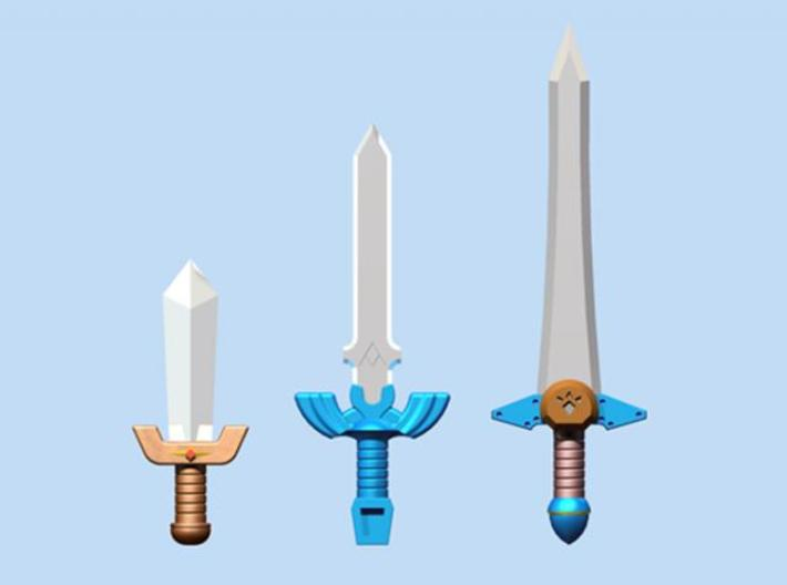 Time Sword Pack 3d printed Render