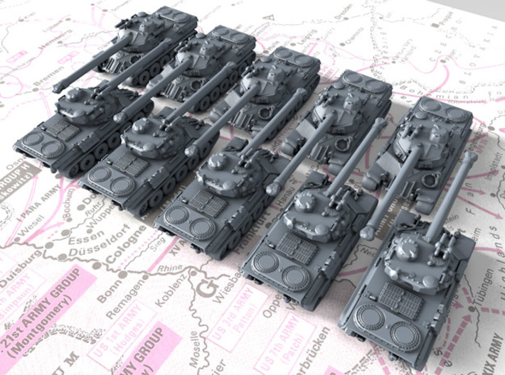 1/700 French Lorraine 40t Medium Tank x10 3d printed 1/700 French Lorraine 40t Medium Tank x10