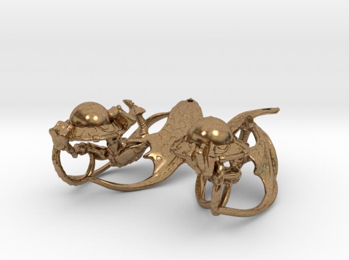 LUX DRACONIS earring pair   3d printed