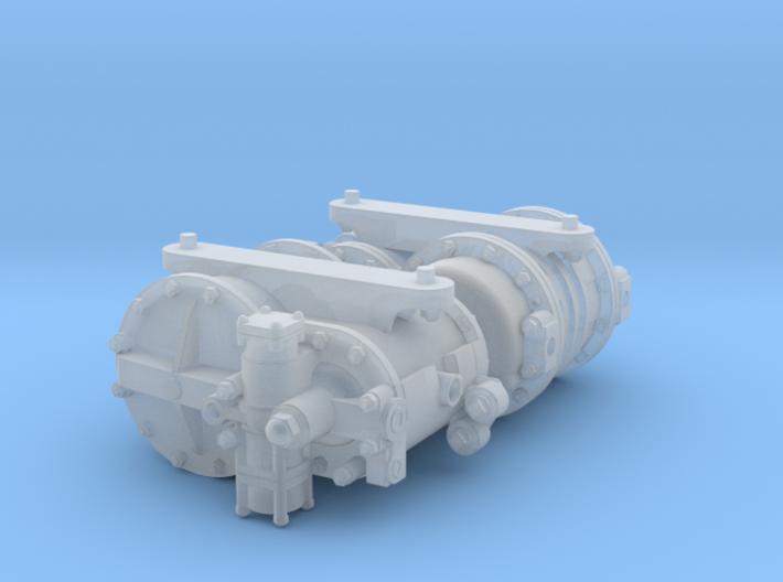 Cross Compound Air Pump 1:20.3 3d printed
