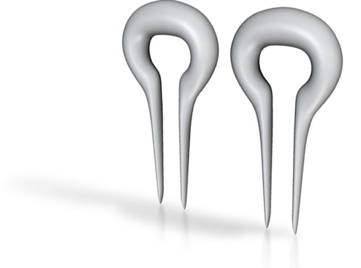 Earrings Omegas 00g 3d printed