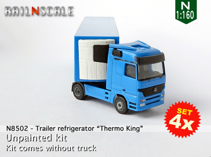 "SET 4x Trailer refrigerator ""Thermo King"" (N 1:160 3d printed"