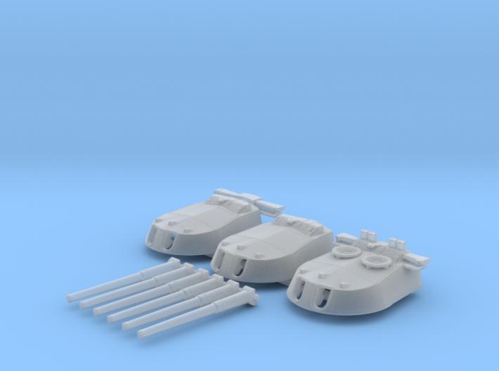 1/700 MKI* HMS Repulse Guns 1941 3d printed 1/700 MKI* HMS Repulse Guns 1941