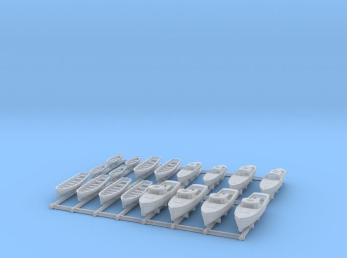 1/600 DKM Bismarck Safe Boats SET 3d printed