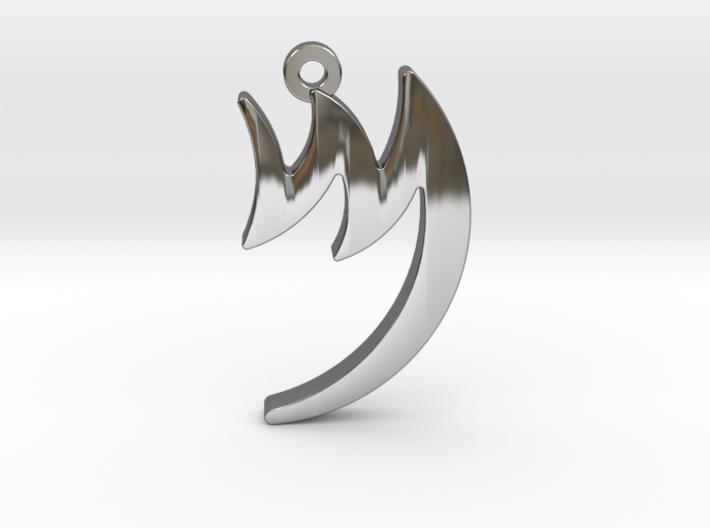 Letter MEM - Paleo Hebrew - with Chain Loop 3d printed