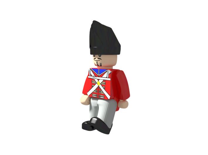 5 x British Grenadier 3d printed Example figurine wearing the shako in black