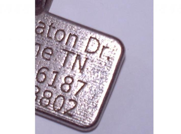 Rectangular Pet Tag 3d printed Description
