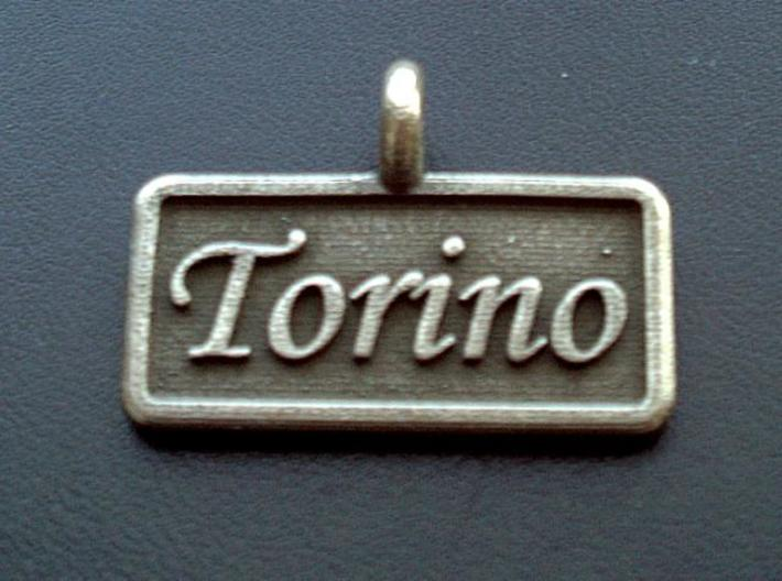 Rectangular Pet Tag 3d printed Shown in plain stainless steel finish