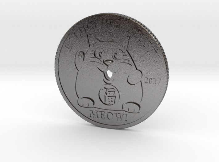 Lucky Cat Coin 3d printed