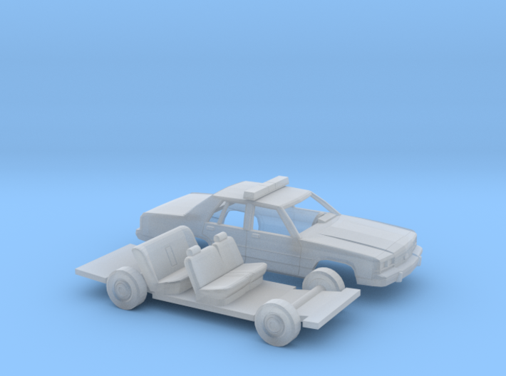 1/120 1989 Ford Crown Victoria Police Kit 3d printed