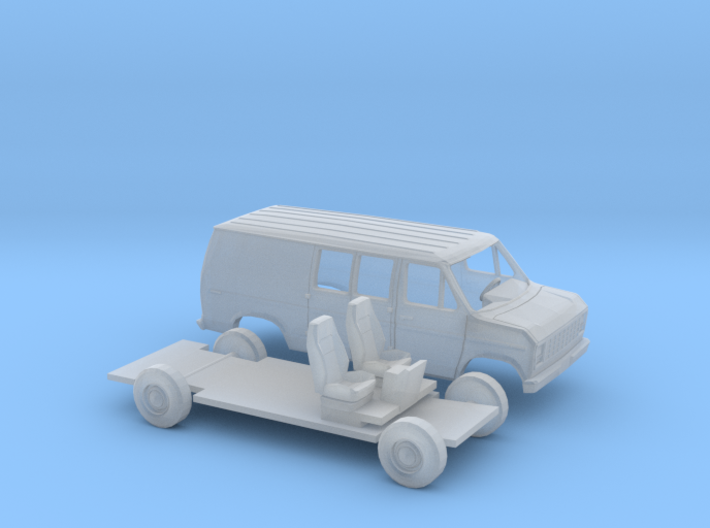 1/120 1975-91 Ford E-Series Delivery Van Kit 3d printed
