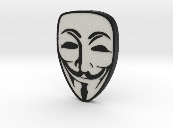 Guy Fawkes Anonymous Mask 3d printed