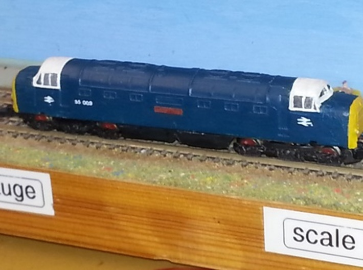 """Class 55 """"Deltic"""" Z 1:220 3d printed"""