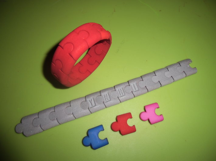PuzzlelinkletterW 3d printed