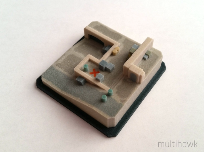 Counter-Strike: GO® Pocket Dust II: A Site 3d printed