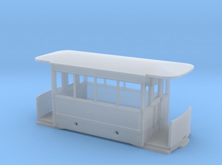 5.5mm Corris Tram Carriage Body 3d printed
