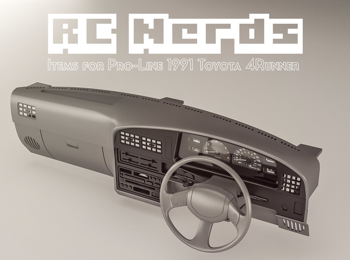 RCN061 Right hand Daschboard for Toyota 4Runner P 3d printed