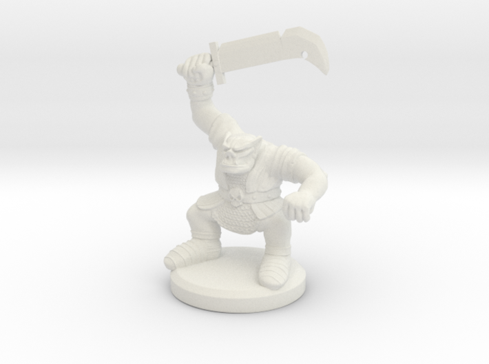 HeroQuest Orc Miniature 3d printed