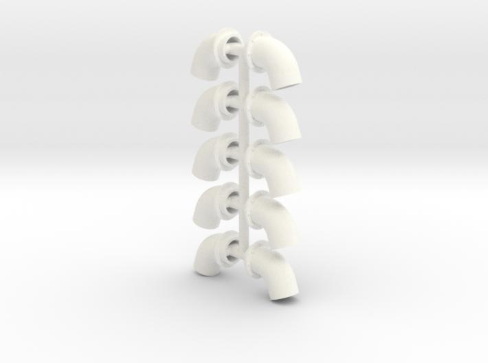 Bullhorns 1/12 4 inch 5 pr 3d printed