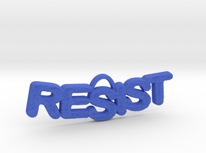 RESIST Texture Small Pendant 3d printed