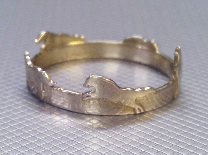 Wolves Ring 3d printed