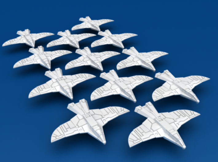 War Hawk Fighter, 12-pack 3d printed 12-Pack of War Hawk Fighters!