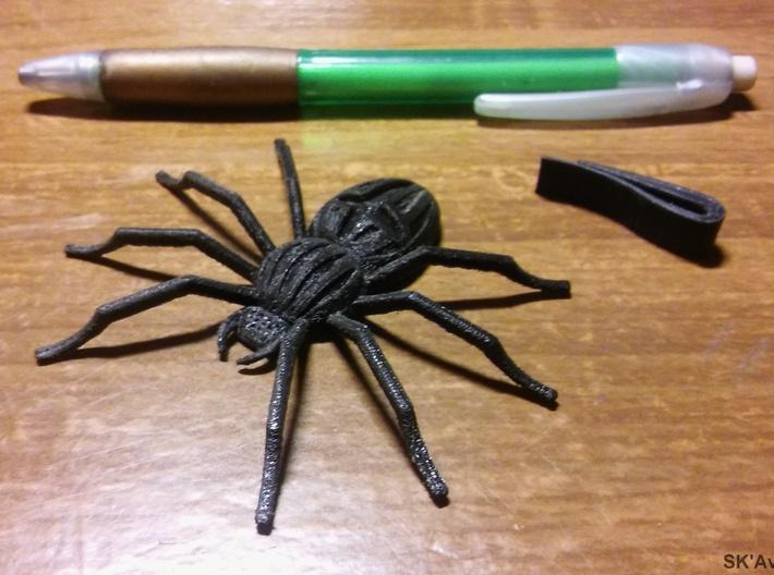 Orb-weaver spider, pendant 3d printed