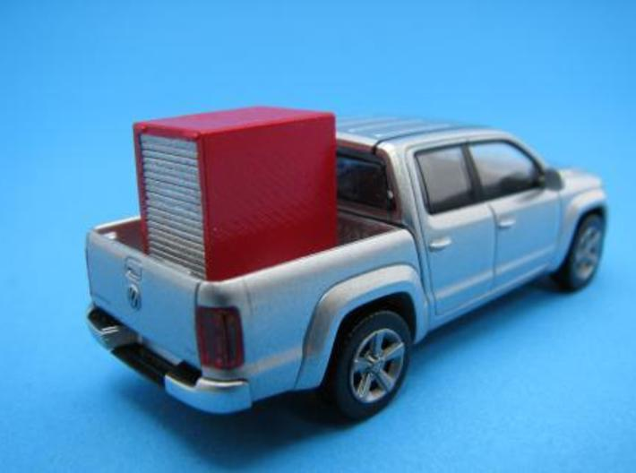 HO/1:87 Fire extinguisher container kit 3d printed Diorama example with wiking VW Amarok (car modell not included)