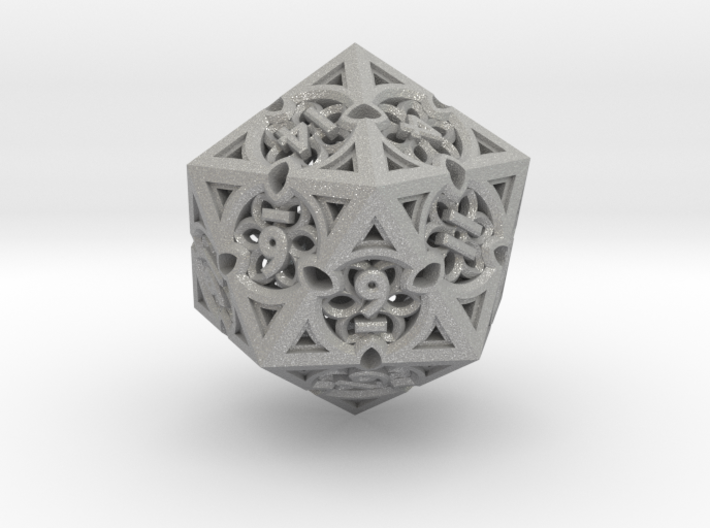 Gothic Rosette d20 3d printed