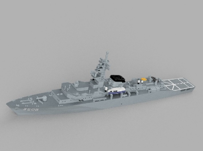 1/2000 Training ship JS Kashima 3d printed Computer software render.The actual model is not full color.