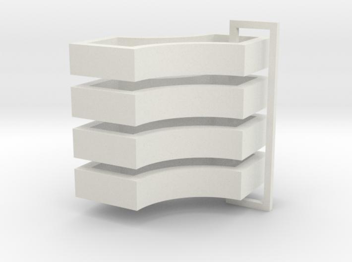 Parkhecke quadratisch doppelt ausgerundet (Buchsba 3d printed