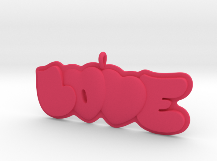 41 - LOVE-double-hearts 3d printed