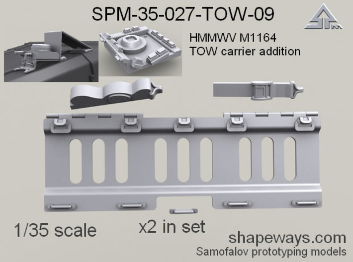 35_SPm027_TOW09_HMMWV_addition_s1x35 3d printed