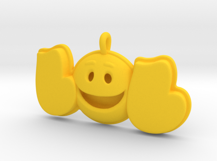 44 -LOL-SMILEY FACE-DOME 3d printed