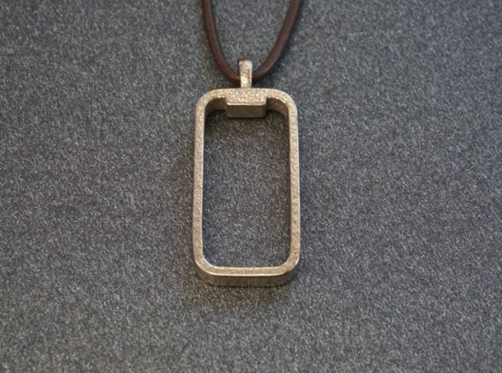 'Embrace The Notch' Phone Pendant / Keychain 3d printed