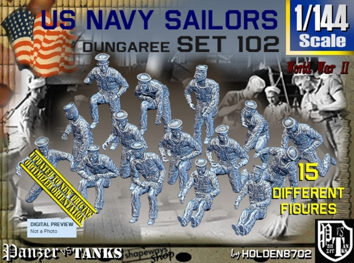 1/144 USN Dungaree Set 102 3d printed