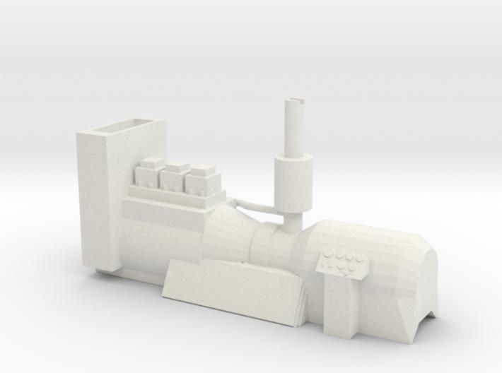 O Scale 23 Ton Box Cab Engine Generator w Speaker  3d printed