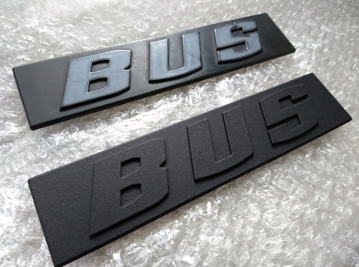 Volkswagen VW T3 T25 Transporter Vanagon Bus Logo  3d printed 3D print compared to the original