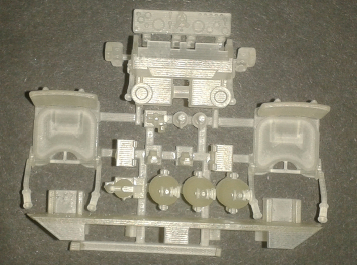 T29 T30 T34 interior driver Takom HobbyBoss 3d printed sprued parts (top view)