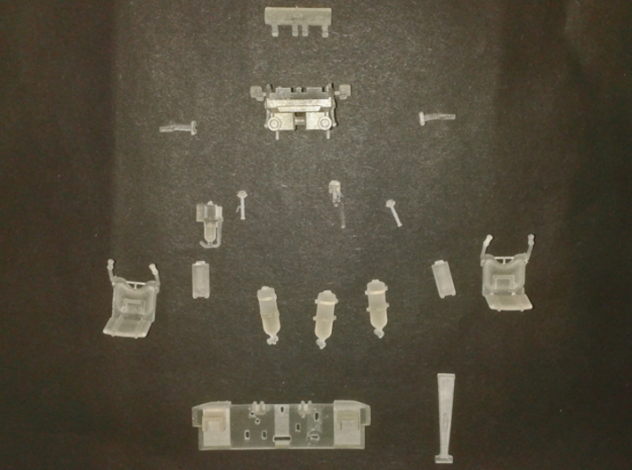 T29 T30 T34 interior driver Takom HobbyBoss 3d printed parts separated