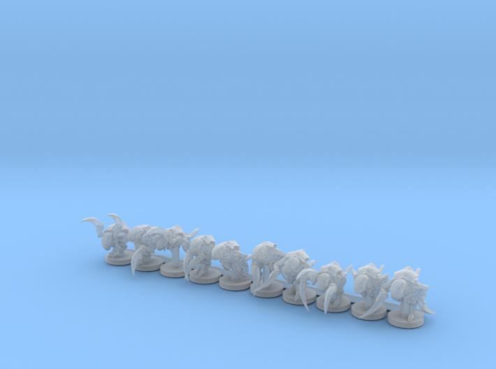 Alien Bug Claw Swarm 10 Models 3d printed