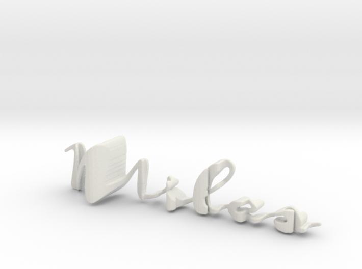 3dWordFlip: Miles/Ariana 3d printed
