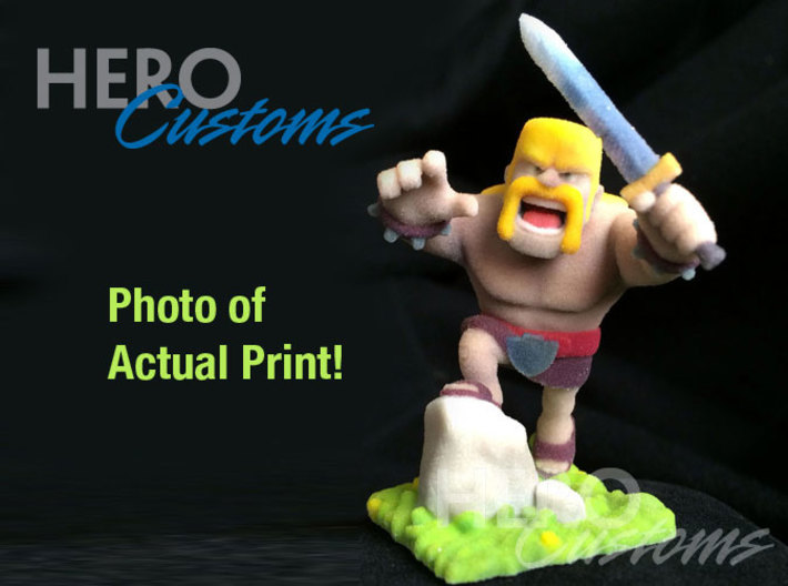 Clash of Clans Barbarian 3d printed Clash of Clans Barbarian actual 3d print