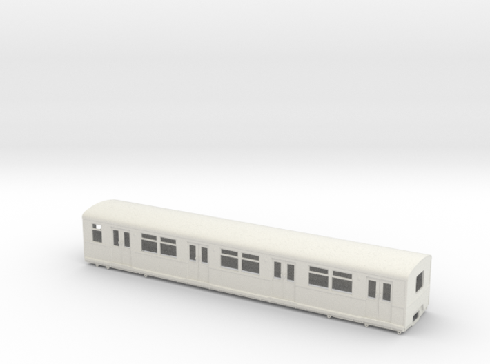 BR 877 Trailer 0 scale [1x body] 3d printed